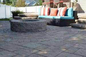Fire pit installation in Smithtown, NY